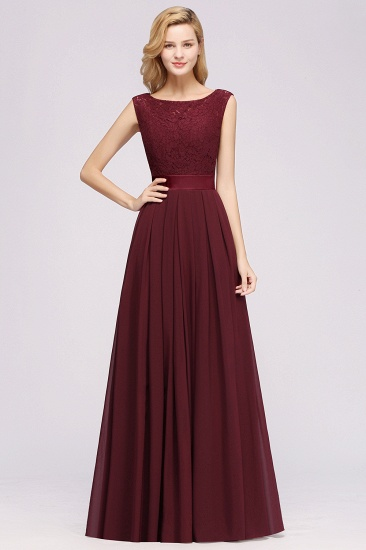 Vintage Sleeveless Lace Bridesmaid Dresses Affordable Chiffon Wedding Party Dress Online_59
