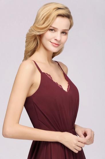 BMbridal Elegant Spaghetti Straps Long Bridesmaid Dress Lace V-Neck Maid of Honor Dress_61