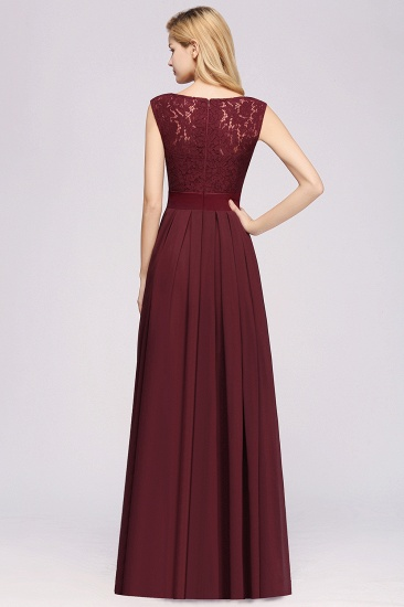 Vintage Sleeveless Lace Bridesmaid Dresses Affordable Chiffon Wedding Party Dress Online_58