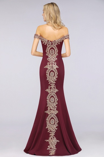 BMbridal Elegant Off-the-Shoulder Mermaid Prom Dress Long With Lace Appliques_11
