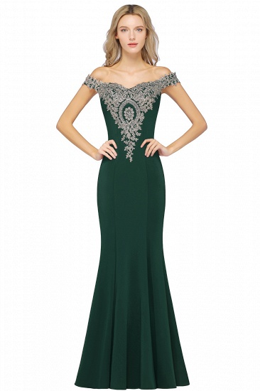 BMbridal Elegant Off-the-Shoulder Mermaid Prom Dress Long With Lace Appliques_8