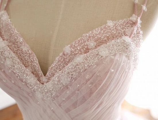 Princess Sweetheart Lace Pink Prom Dress Long Tulle Party Gowns_11