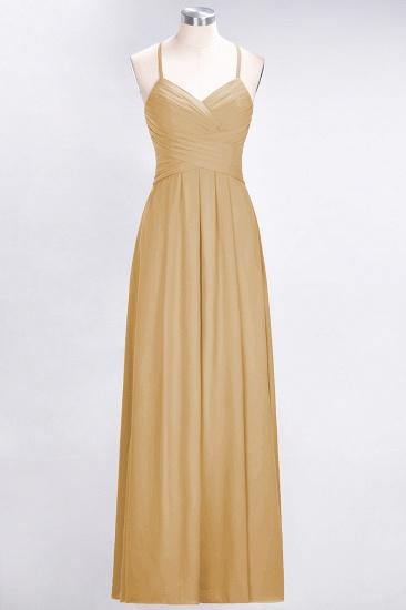 Affordable Spaghetti Straps V-Neck Burgundy Chiffon Bridesmaid Dress with Keyhole Back_13