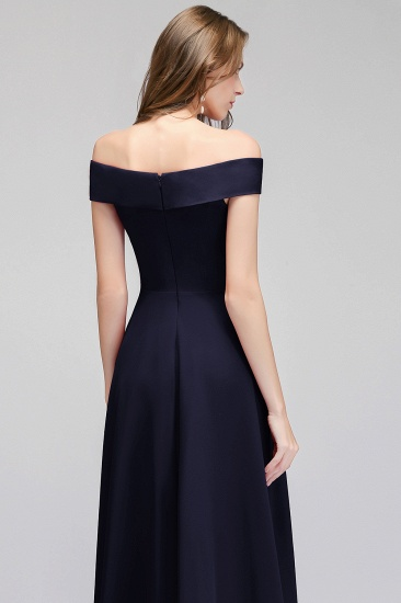 Popular Off-the-Shoulder Ruffle Navy Bridesmaid Dresses Online_5