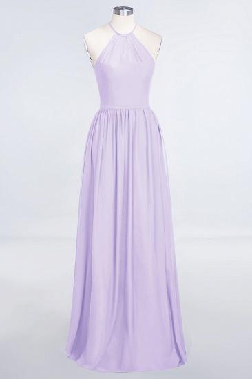 BMbridal Affordable Halter Sleeveless Long Burgundy Bridesmaid Dress with Ruffle_21