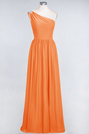 Affordable Chiffon One-Shoulder Ruffle Bridesmaid Dress with Beadings_15