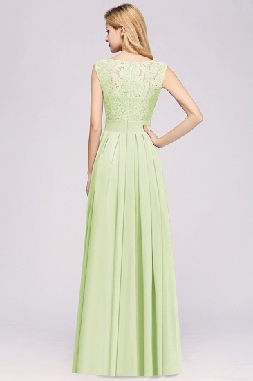 Vintage Sleeveless Lace Bridesmaid Dresses Affordable Chiffon Wedding Party Dress Online_2