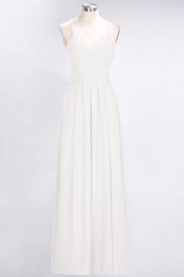 Affordable Spaghetti Straps V-Neck Burgundy Chiffon Bridesmaid Dress with Keyhole Back_2
