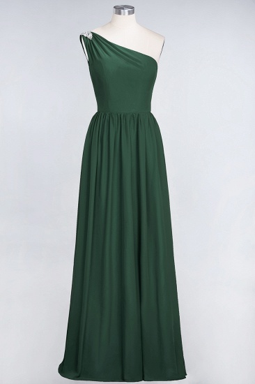 Affordable Chiffon One-Shoulder Ruffle Bridesmaid Dress with Beadings_31