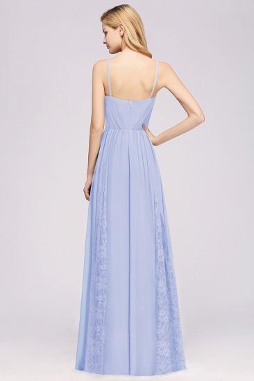 BMbridal Elegant Spaghetti Straps Long Bridesmaid Dress Lace V-Neck Maid of Honor Dress_52