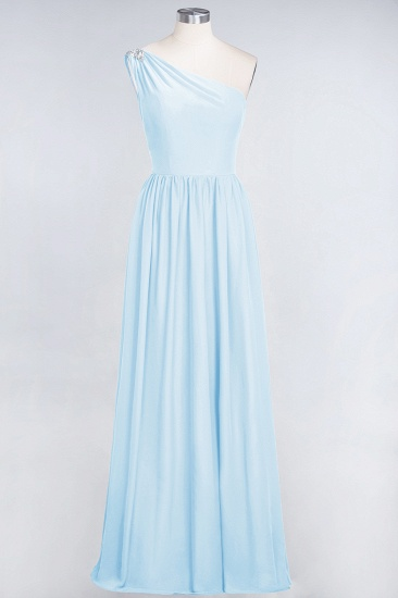Affordable Chiffon One-Shoulder Ruffle Bridesmaid Dress with Beadings_23