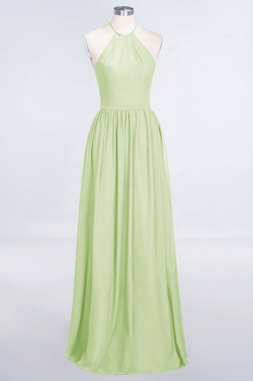 BMbridal Affordable Halter Sleeveless Long Burgundy Bridesmaid Dress with Ruffle_35