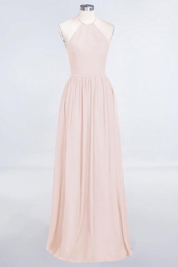 BMbridal Affordable Halter Sleeveless Long Burgundy Bridesmaid Dress with Ruffle_5