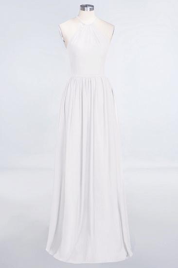 BMbridal Affordable Halter Sleeveless Long Burgundy Bridesmaid Dress with Ruffle_1