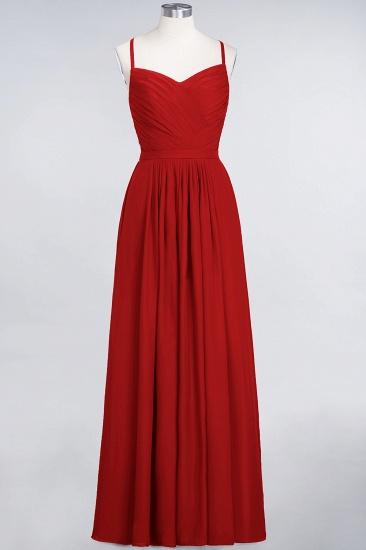 Glamorous Spaghetti Straps Sweetheart Ruffle Chiffon Bridesmaid Dress Online_8