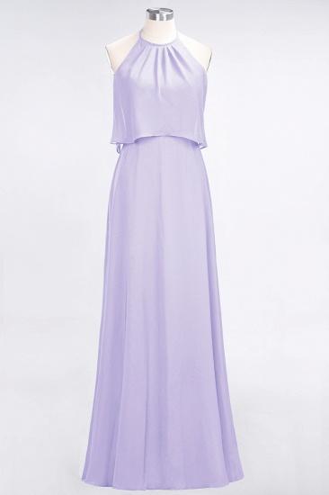 BMbridal Gorgeous Chiffon Flounced Crinkle Sheath Long Burgundy Bridesmaid Dresses_21