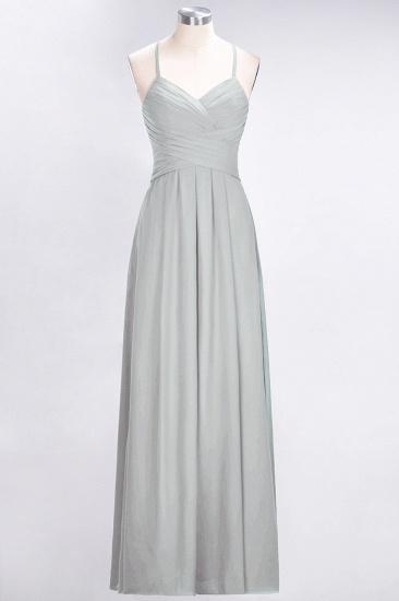 Affordable Spaghetti Straps V-Neck Burgundy Chiffon Bridesmaid Dress with Keyhole Back_30