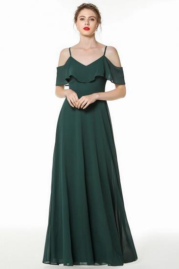 BMbridal Elegant Cold-shoulder Flounced Crinkle Backless Bridesmaid Dresses Affordable_1