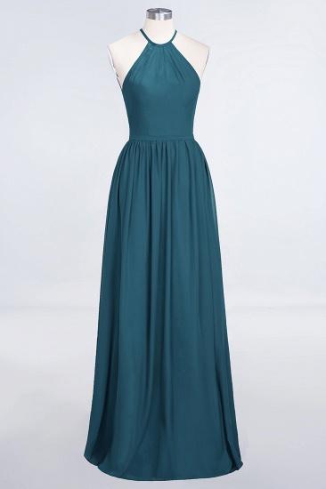 BMbridal Affordable Halter Sleeveless Long Burgundy Bridesmaid Dress with Ruffle_27