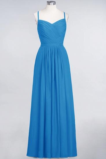 Glamorous Spaghetti Straps Sweetheart Ruffle Chiffon Bridesmaid Dress Online_24