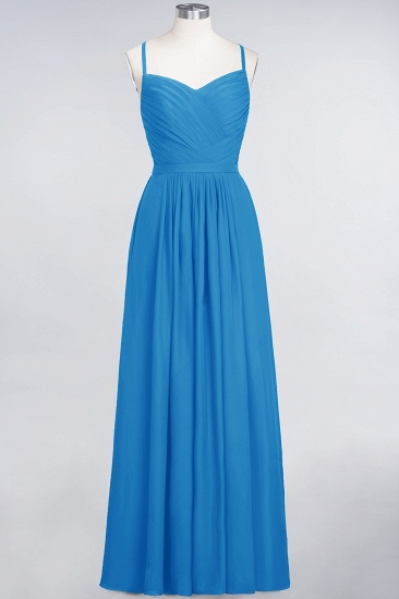 BMbridal Glamorous Spaghetti Straps Sweetheart Ruffle Chiffon Bridesmaid Dress Online_25
