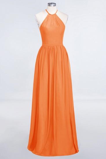 BMbridal Affordable Halter Sleeveless Long Burgundy Bridesmaid Dress with Ruffle_15