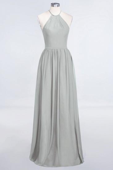 BMbridal Affordable Halter Sleeveless Long Burgundy Bridesmaid Dress with Ruffle_30
