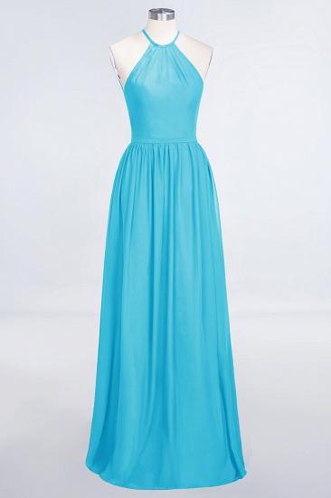 BMbridal Affordable Halter Sleeveless Long Burgundy Bridesmaid Dress with Ruffle_24