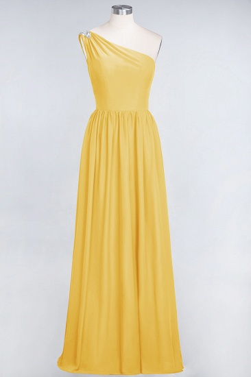 Affordable Chiffon One-Shoulder Ruffle Bridesmaid Dress with Beadings_17