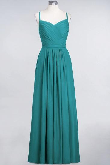 Glamorous Spaghetti Straps Sweetheart Ruffle Chiffon Bridesmaid Dress Online_31