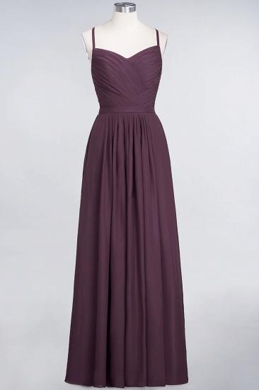 Glamorous Spaghetti Straps Sweetheart Ruffle Chiffon Bridesmaid Dress Online_19
