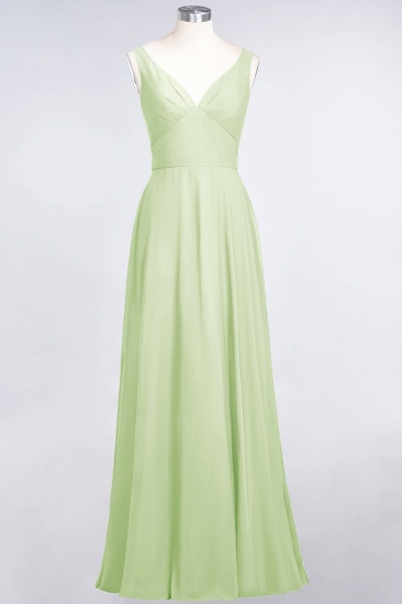 BMbridal Chic Chiffon V-Neck Straps Ruffle Affordable Bridesmaid Dresses with Open Back_35