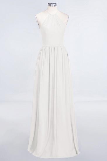 BMbridal Affordable Halter Sleeveless Long Burgundy Bridesmaid Dress with Ruffle_2