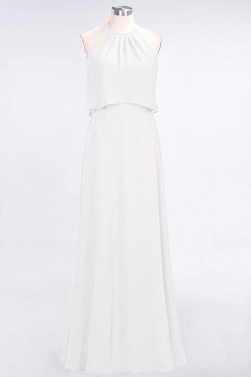 BMbridal Gorgeous Chiffon Flounced Crinkle Sheath Long Burgundy Bridesmaid Dresses_1