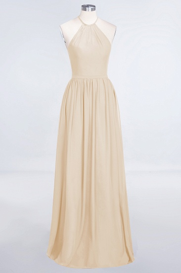 BMbridal Affordable Halter Sleeveless Long Burgundy Bridesmaid Dress with Ruffle_14