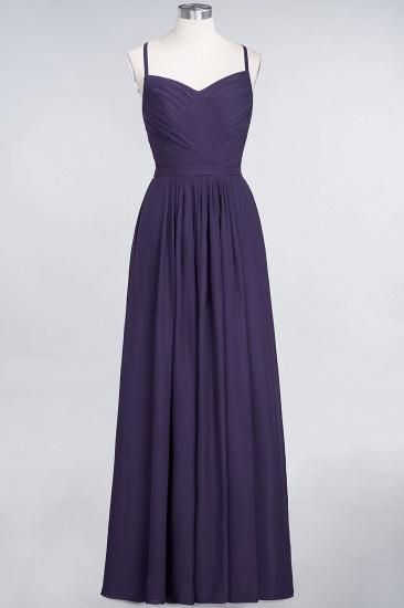 Glamorous Spaghetti Straps Sweetheart Ruffle Chiffon Bridesmaid Dress Online_18