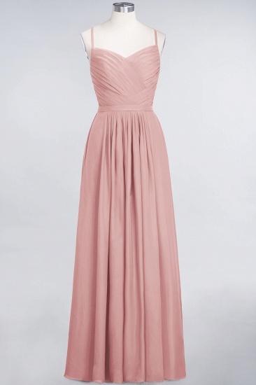 Glamorous Spaghetti Straps Sweetheart Ruffle Chiffon Bridesmaid Dress Online_6