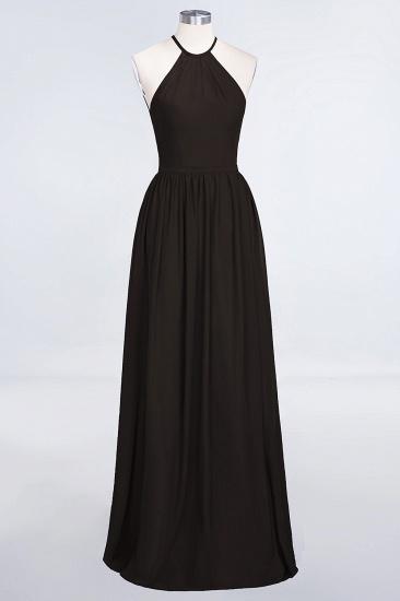 BMbridal Affordable Halter Sleeveless Long Burgundy Bridesmaid Dress with Ruffle_11