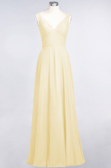 BMbridal Chic Chiffon V-Neck Straps Ruffle Affordable Bridesmaid Dresses with Open Back_18