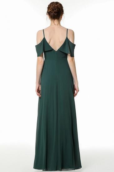 BMbridal Elegant Cold-shoulder Flounced Crinkle Backless Bridesmaid Dresses Affordable_3