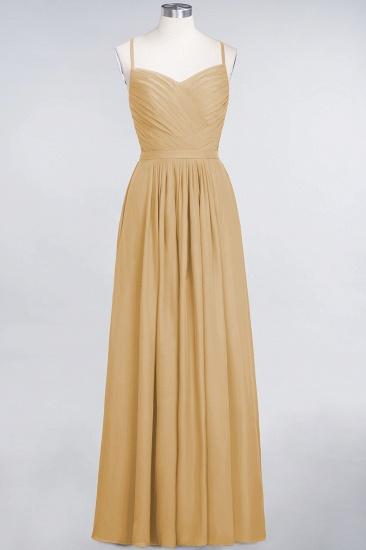 Glamorous Spaghetti Straps Sweetheart Ruffle Chiffon Bridesmaid Dress Online_13