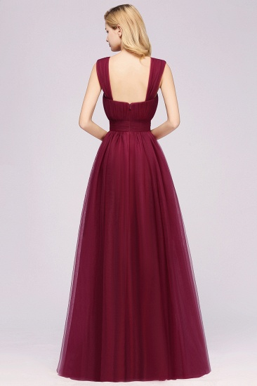 Gorgeous Sweetheart Straps Ruffle Burgundy Bridesmaid Dresses Online_36