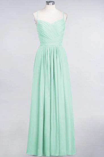 Glamorous Spaghetti Straps Sweetheart Ruffle Chiffon Bridesmaid Dress Online_34