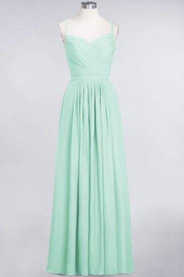 BMbridal Glamorous Spaghetti Straps Sweetheart Ruffle Chiffon Bridesmaid Dress Online_36