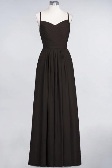 Glamorous Spaghetti Straps Sweetheart Ruffle Chiffon Bridesmaid Dress Online_11