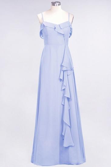 Elegant Spaghetti Straps Ruffle Burgundy Chiffon Dresses Affordable_22