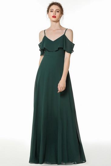 BMbridal Elegant Cold-shoulder Flounced Crinkle Backless Bridesmaid Dresses Affordable_4