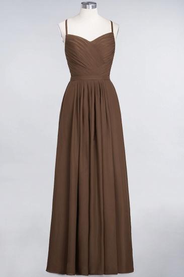 Glamorous Spaghetti Straps Sweetheart Ruffle Chiffon Bridesmaid Dress Online_12