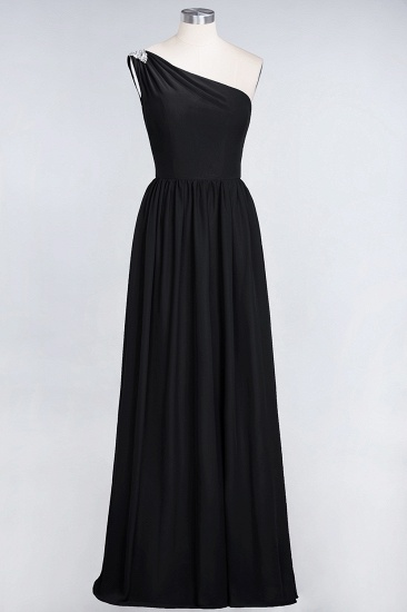 Affordable Chiffon One-Shoulder Ruffle Bridesmaid Dress with Beadings_29