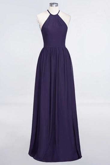 BMbridal Affordable Halter Sleeveless Long Burgundy Bridesmaid Dress with Ruffle_19